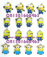 Despicable Me Four Style Lot 50 pcs Metal Charms DIY Jewellery  Free shipping