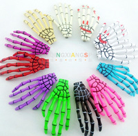 Harajuku skull hairpin side-knotted clip skull luminous lavalier,skeleton hand hairpin,not Hand Sink Plug,Free Shipping