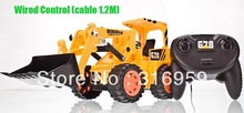 Low Price 6CH Wired Control Simulation Bulldozer 4 wheel construction Bulldozer wheel drive Engineering van electronic