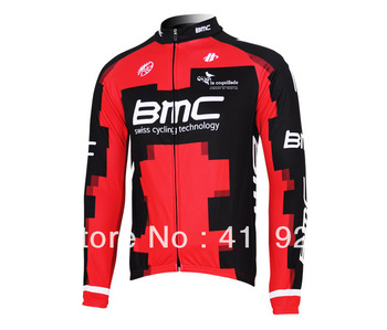 Classic cycling equipment,BMC cycling team passion red long sleeves cycling jacket,bicycle clothing,free shipping