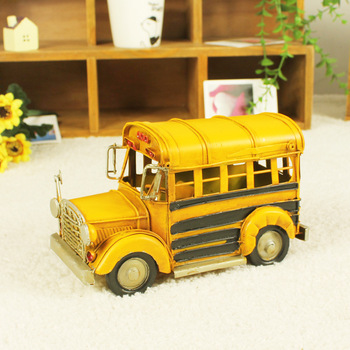 Home decoration Vintage metal craft  Handmade goods Gifts Free delivery Collection's bus Iron art Car model Office souvenir