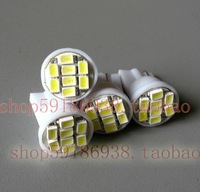 Wholesale 300pcs/lot white T10 194 168 192 W5W 1206smd 8 smd super bright Auto led car  lighting wedge