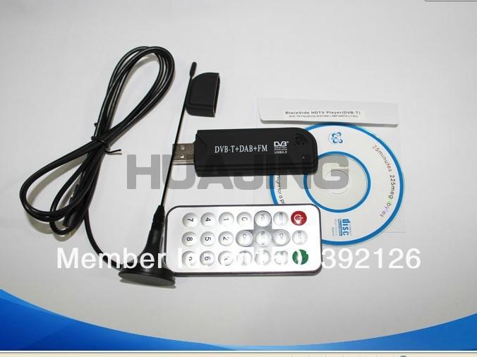 Mini Digital USB DVBT TV FM DAB Tuner DVB-T Receiver DVB T Dongle RTL2382U R820T Chipset Support SDR+CD FREESHIPPING(China (Mainland))