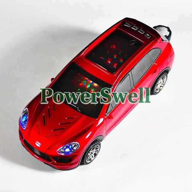 Free shipping 2013 The Latest Fashion Portable Mini Cayenne model Car Shape Speaker with FM Radio support TF Card/U Disk(China (Mainland))