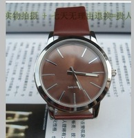 New big dial 2014 men and women fashion white  watch, free shipping