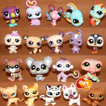 "2013 new Free shipping 20pcs / set 2.4"" Littlest Pet Shop LPS Animals Figures Toy (20 different pieces/lot) little pet figures"
