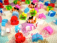 Free Shipping Colorful mini eraser marine fashion eraser prize 60