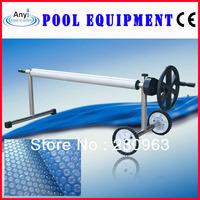 Swimming pool cover reel, pool roller