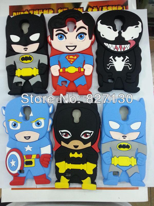 1pcs 3D Superman super man Batman Spiderman Hero Ironman venom Cute ...