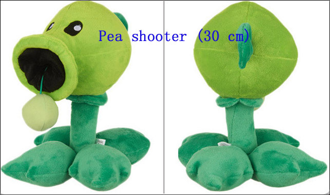 free shipping plants vs zombies plush toys Pea shooter Toys,children/baby/kid/adult festival Christmas gift,Plush Toys(China (Mainland))