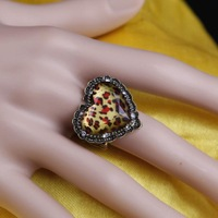2 pcs/lot Retro Attractive Heart Shape Elastic Women Lady Girls Ring,