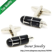 Novelty black pen painting cufflinks OP0770 - Free shipping