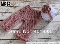 Free shipping adorable headband and crochet pants Photography Props newborn Baby headband and Pants