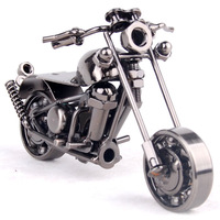 Wrought iron decoration motorcycle model birthday gift home free shipping
