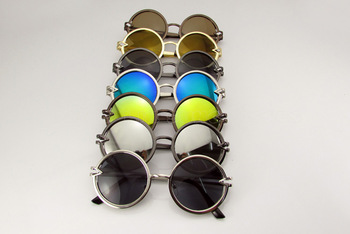 2014 Newest Fashion Glasses 7 Colors Metal Frame Sunglasses circular lenses glasses fashion sunglasses-2251 10pcs/lot