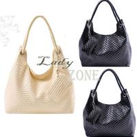 Dropshipping Korean Style Woven Bag Vintage Lady Handbags 2013 Cheap Cute Tote Bags PU Leather Shoulder Bag 5100