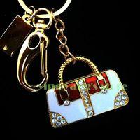 Exquisite Crystal White handbag USB 2.0 Flash Memory Stick Drive 2GB 4GB 8GB 16GB 32GB