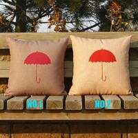 Warm Winter Umbrellas Two Colors 2 Choose 1 Linen Cotton 45*45cm Cushion Cover Pillows Decorate for a Sofa Wholesale