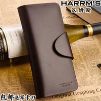 free shipping Men design cowhide long wallet male genuine leather men's hasp wallet