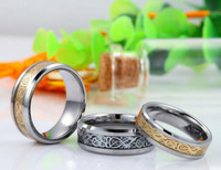 50pcs/lot 2013 New Fashion Dragon Tungsten Carbide Ring Mens Jewelry Gold New Wedding Band Rings Mixed Size Free Shipping
