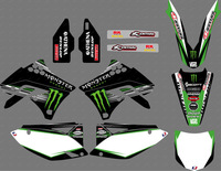 0059 New Style (black power) TEAM GRAPHICS & BACKGROUNDS DECALS STICKERS Kits for KAWASAKI KX250F KXF250 2009 2010 2011 2012