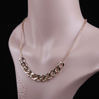 Women Lady Short Paragraph Punk Style Necklace,