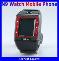 "Free Shipping N9 Watch Phone,1.3MP Camera,1.3""Touch LCD,Support Bluetooth,Audio/Video Record"