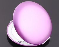 Wholesale High-grade Solid Color Metal  Makeup Mirror Portable Hand Mirror for Daily Use and Gift 5pcs/lot