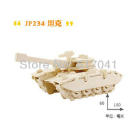 3D puzzle wooden lovely tank early intelligence educational toy for 3-7 years kid toy best Christmas gift for 2013