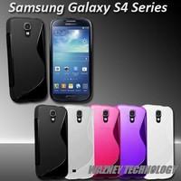 1000pcs Soft TPU Gel Clear sline Back Cover Case S - Line sline Cases for Samsung I9500 Galaxy S4 S (mix color)