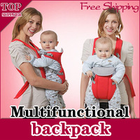 Free Shipping  1 x Red/Blue Front & Back Baby Carrier Infant Comfort Backpack   Sling Wrap design , Wholesale