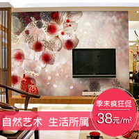 Tv background wall wallpaper romantic wallpaper mural fashion brief