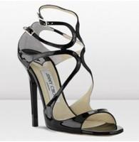 Lance Wavy Strap Sandal Glitter Leather Strappy Sandals Crisscross Sandal Black Red Gold Silver Color size 42