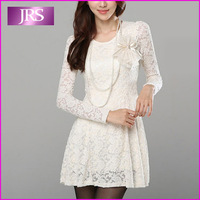2013 autumn long-sleeve lace one-piece dress sexy women's