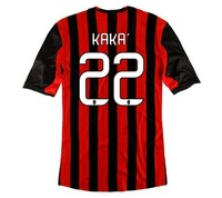 New 13/14 AC Milan #22 KAKA Home Jerseys Red Black 13-14 Football kits Soccer Unforms 2013-2014 Cheap Soccer Jersey