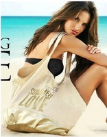 2013 summer love VS limited edition bag,canvas Bronzing canvas beach  Shoulder bags, leisure bags