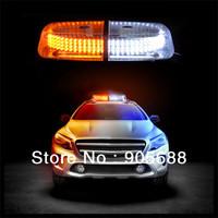 Free shipping Vehicle Roof Top Emergency Hazard Warning Strobe Light Lamp 240 LED White Amber