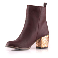 fashion 2013 personality rivet hemming women's patent leather shoes single boots female