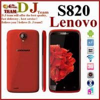 "Original Lenovo S820 phone MTK6589 Quad core 1GB RAM 4GB ROM Android 4.7"" IPS HD Screen Russian smartphone"