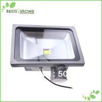 EMS/DHL free shipping 1pcs 110-220V  50W PIR Motion sensor Induction Sense detective Sensor lamp LED Flood Light