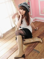 Hot-selling high 2013 rainboots wedges bandeaus women's  rainboots free shipping