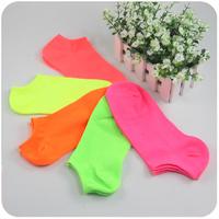 B104 sock slippers neon candy color socks female socks spring and summer smt