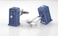 Dr Who Tardis cufflinks men jewelry blue box cufflinks blue whistle Pavilion cufflinks gift new arrival Franco cufflink