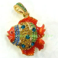 Crystals Fish Jewelry 2GB 4GB 8GB 16GB 32G USB 2.0 Flash Memory Drive Stick+Gift Necklace
