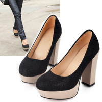 Shoes high-heeled shoes thick heel shoes women's shoes plus size women's shoes 40 - 43 mushroom