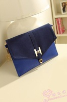 Free Shipping 2013 Hot fashion woman PU Clutch and connected Messenger Bag