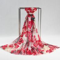 5Pcs/Lot Fashion Womens Wool Scarfs 2014 New Cashmere Large Square Soft Scarf Girls Pashmina Shawls Digital Flower Printed