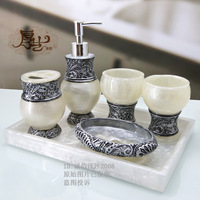 European-style bathroom suite bathroom Wujiantao wedding resin wash brushing Cup Set Toiletries Kit shipping
