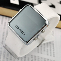 Mirror led watch jelly ladies watch lovers table women's jelly table electronic watch male watch fashion