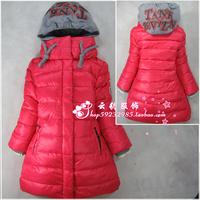 Child down coat medium-long female child children's clothing down coat thickening female child down coat female